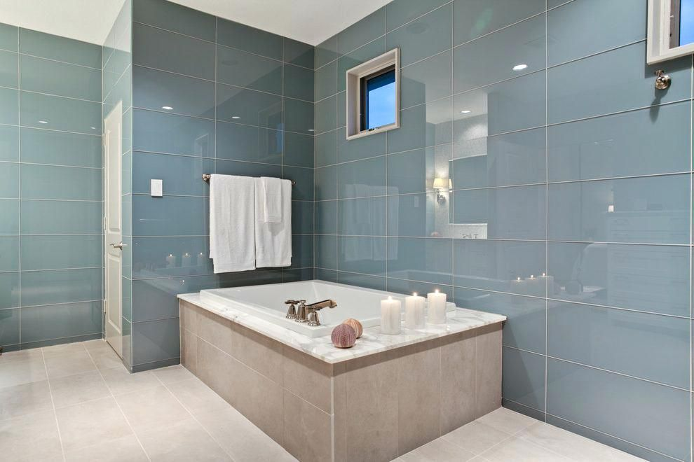 Large Glass Tiles Large Glass Bathroom Tiles Large Glass Tile Bathroom Contemporary With Alcove Shower La Glass Tile Bathroom Bathroom Glass Wall Tile Bathroom