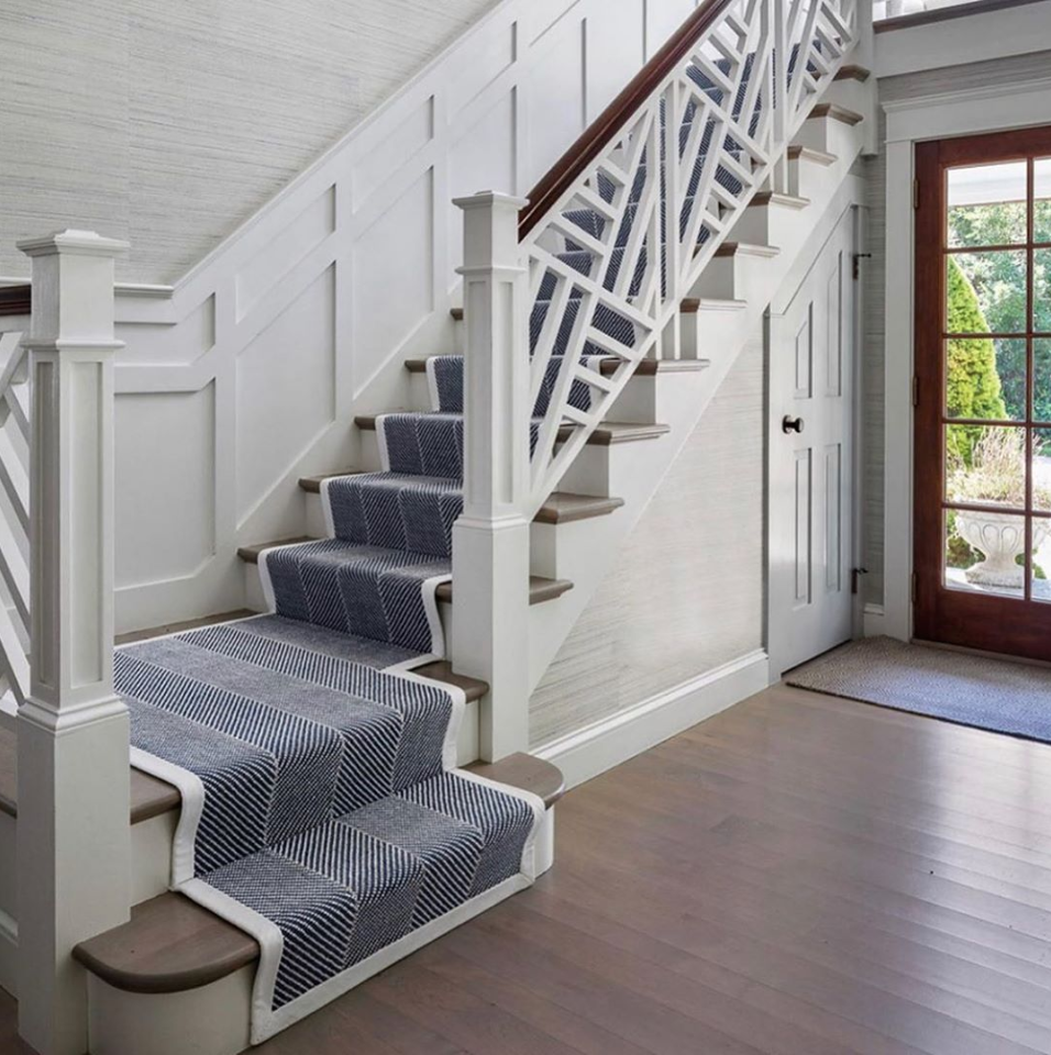 Inspirational Stairs Design: #blueandwhite In Entryway By @digsdesignco 📷 @gregpremru