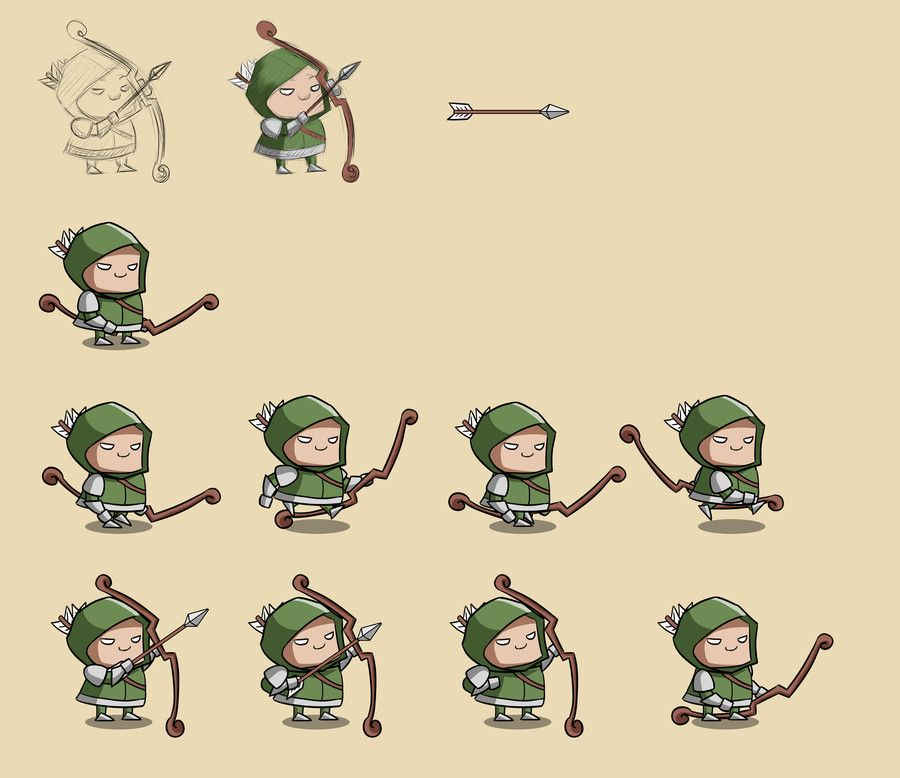 Game Character Design Contest : D game character design with sprite animations