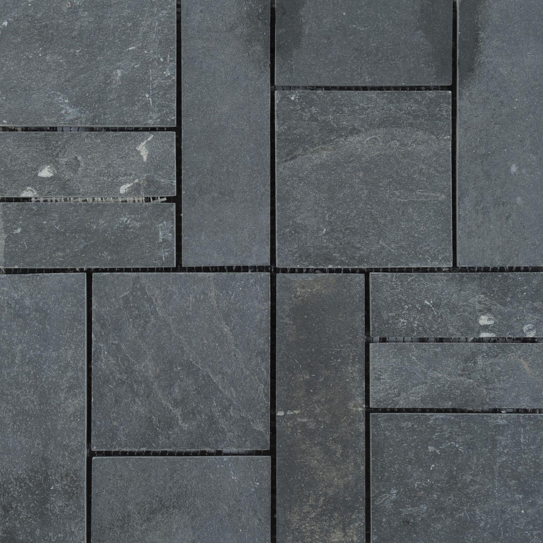 Quartz Black Slate Interlocking Deck Tiles Deck Tiles Builddirect