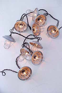 Enhance Your Nautical Event With These Cage Patio Lights. Each Of The Warm  White Lights Is Enclosed Inside A Silver Colored Wire Cage. With.