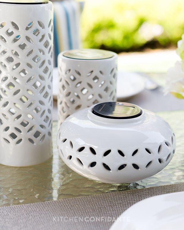 Perfect Ceramic Solar Lanterns Dress Up The Season For Outdoor Living As Seen On  Kitchen Confidante #