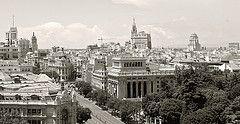Vista de Calle Alcalá desde edificio de Correos
