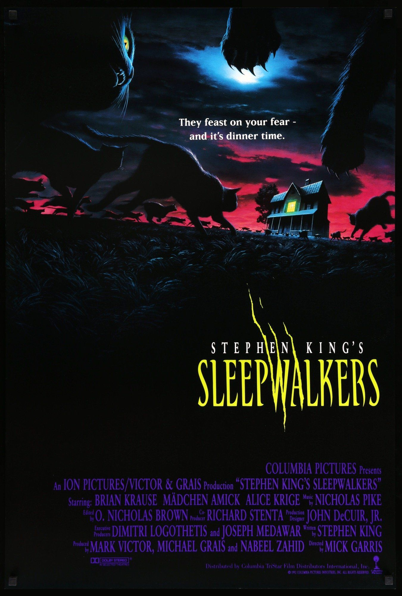 Sleepwalkers 1992 In 2021 Stephen King Movies Horror Movie Posters Stephen King