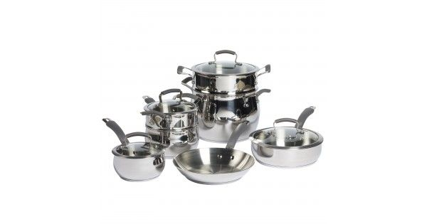 Epicurious 11 Piece Cookware Set - Silver - Epicurious Kitchen - FREE SHIPPING!!
