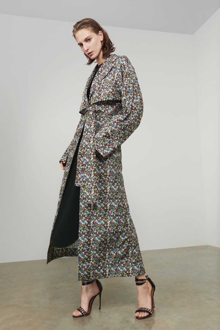 b8846fc0362385 Lightweight Floral Trench Coat in 2019 | Beautiful Designer Fashions ...
