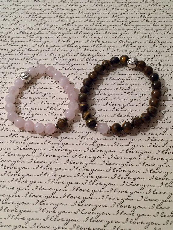 Couples Bracelet/ Soulmates/ Twin Flame/ Gemstone Bracelet Set