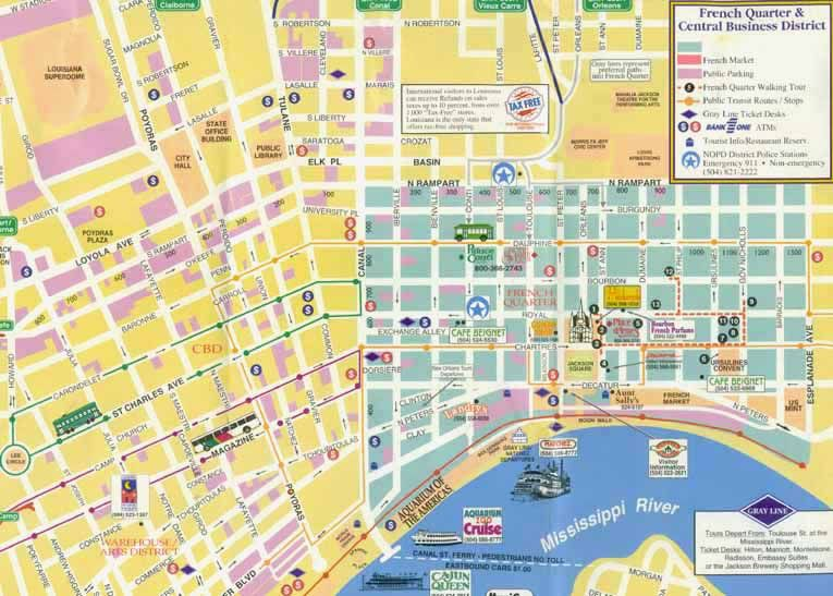 New Orleans Garden District Map New Orleans New Orleans Style - New orleans in map of usa
