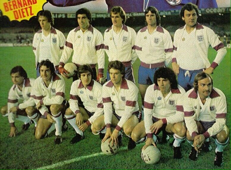 England In 1977 England Football Football Team Football