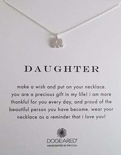 adorable elephant necklace attached with meaningful message. dainty and  sweet. great Christmas gifts for daughter from mom. holiday gift guide for  tween ... - Christmas Holiday Guide: Shopping For Tween Girls Unique Mothers