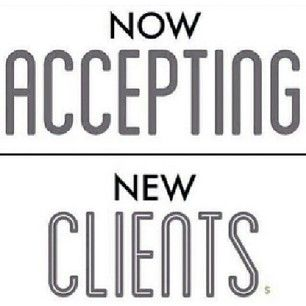 Taking on new clients! If you're interested in changing