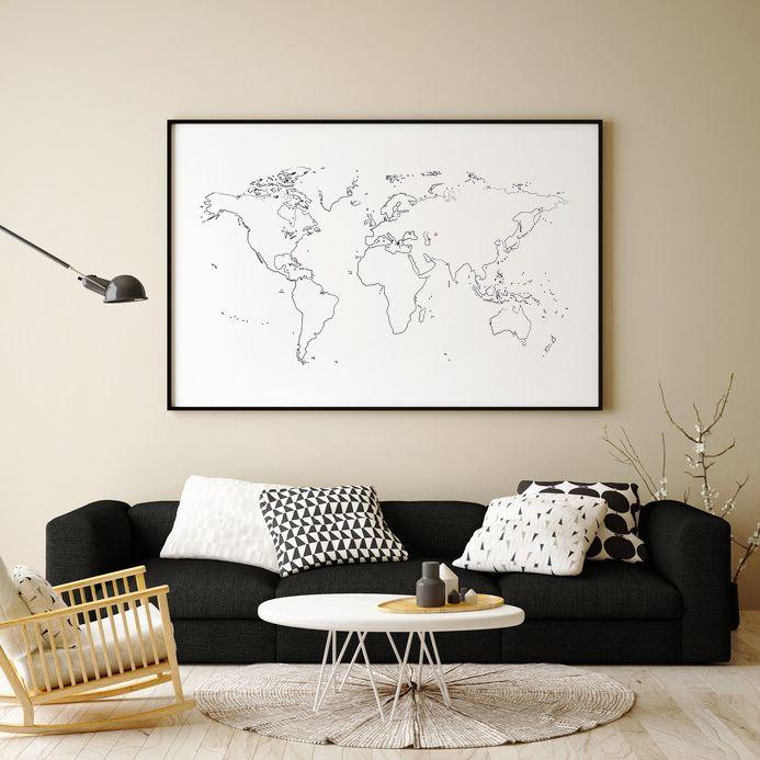 Modern minimalist world map print click to see more decorating modern minimalist world map print click to see more decorating made easy find gumiabroncs Choice Image