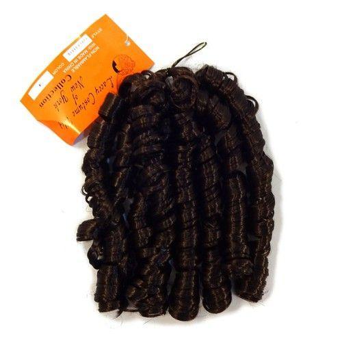 Bulk Synthetic Silky Curls, 4 Dark Brown
