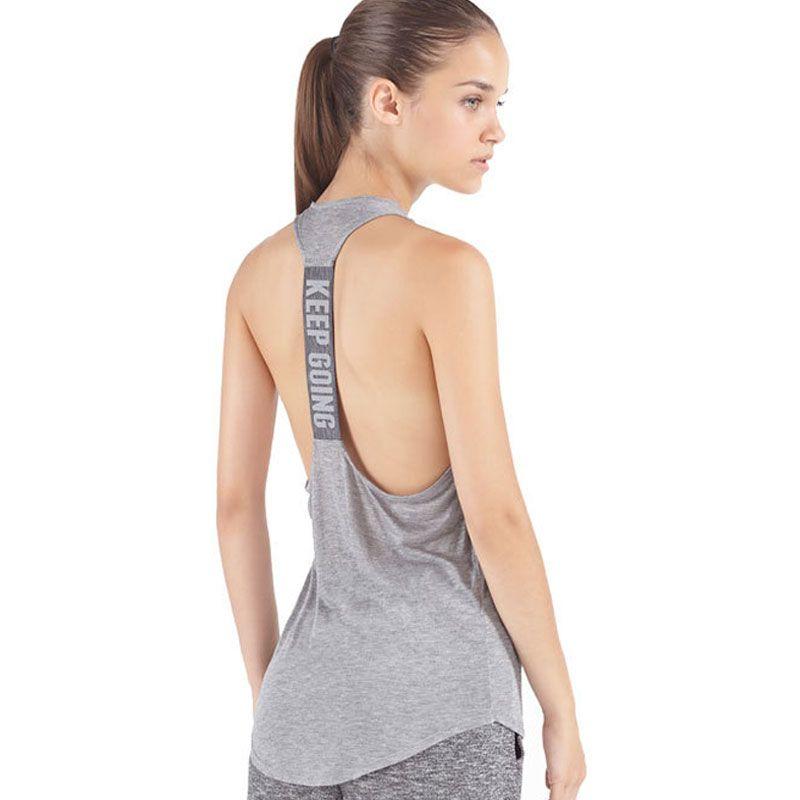 Womens Yoga Shirts Woman Running Shirt Cool Gym Shirts Yoga Apparel Tank  Tops Fitness Clothes Ladies