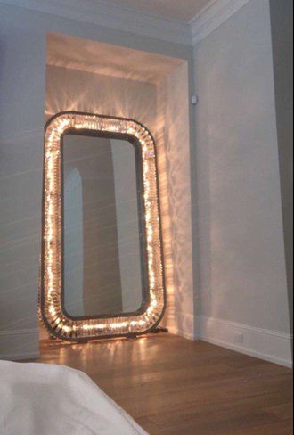 floor mirror with lights Floor Length Light Up Mirror Home Decoration Home Accessory | Home  floor mirror with lights