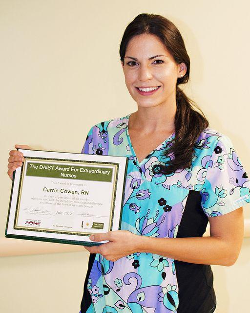 Carrie Cowen, RN, July 2012 Daisy Award Recipient
