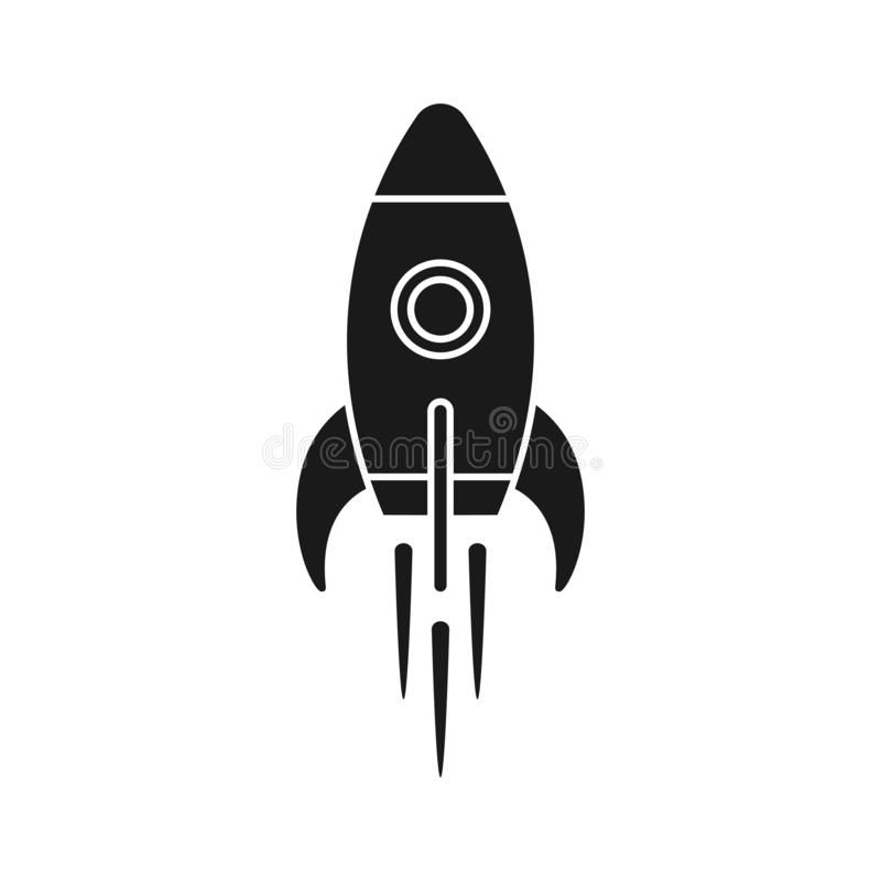 Rocket Flying Graphic Black Icon Rocket Icon Flying Spaceship Sign Spacecraft Affiliate Icon Fl Vector Illustration Graphic Illustration Rockets Logo