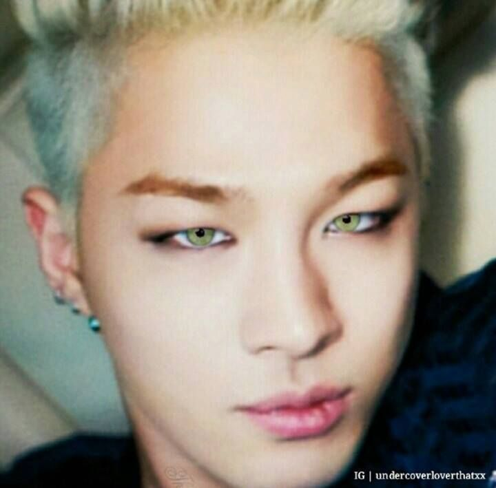 I Don T Care If They Are Green Eyes I M Still Pinning It Lol Green Eyes Bigbang Korean Bands