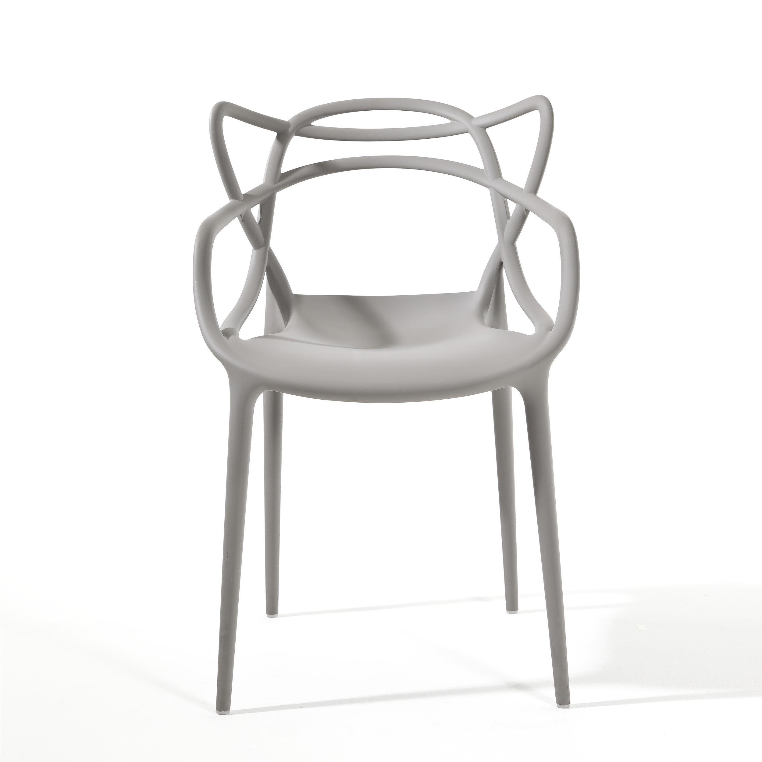 Polypropylene chair grey mod. Masters, Kartell. // Silla de ...