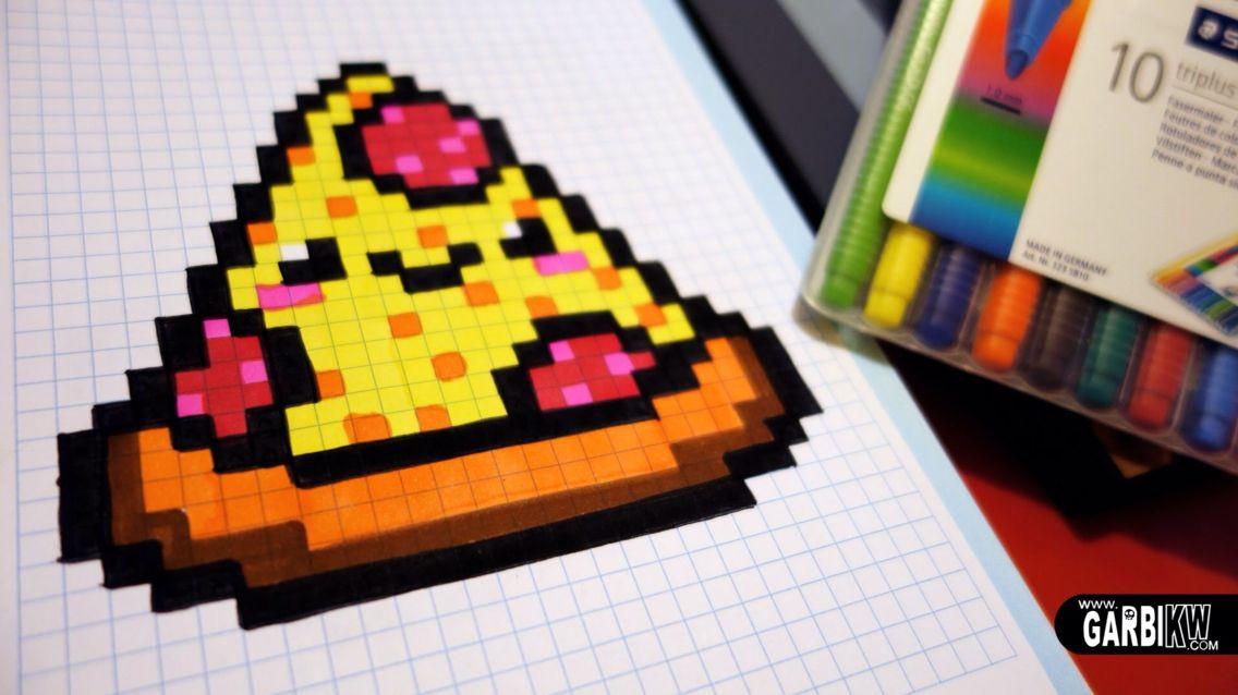 Pizza Bead Pattern Pixel Art Facile Pixel Art Disney Kawaii