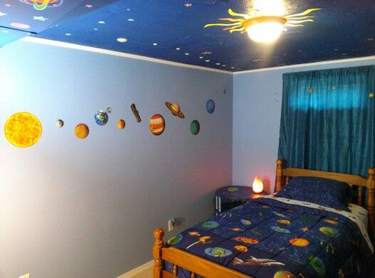 Chase\'s solar system bedroom. | Our creative creations ...