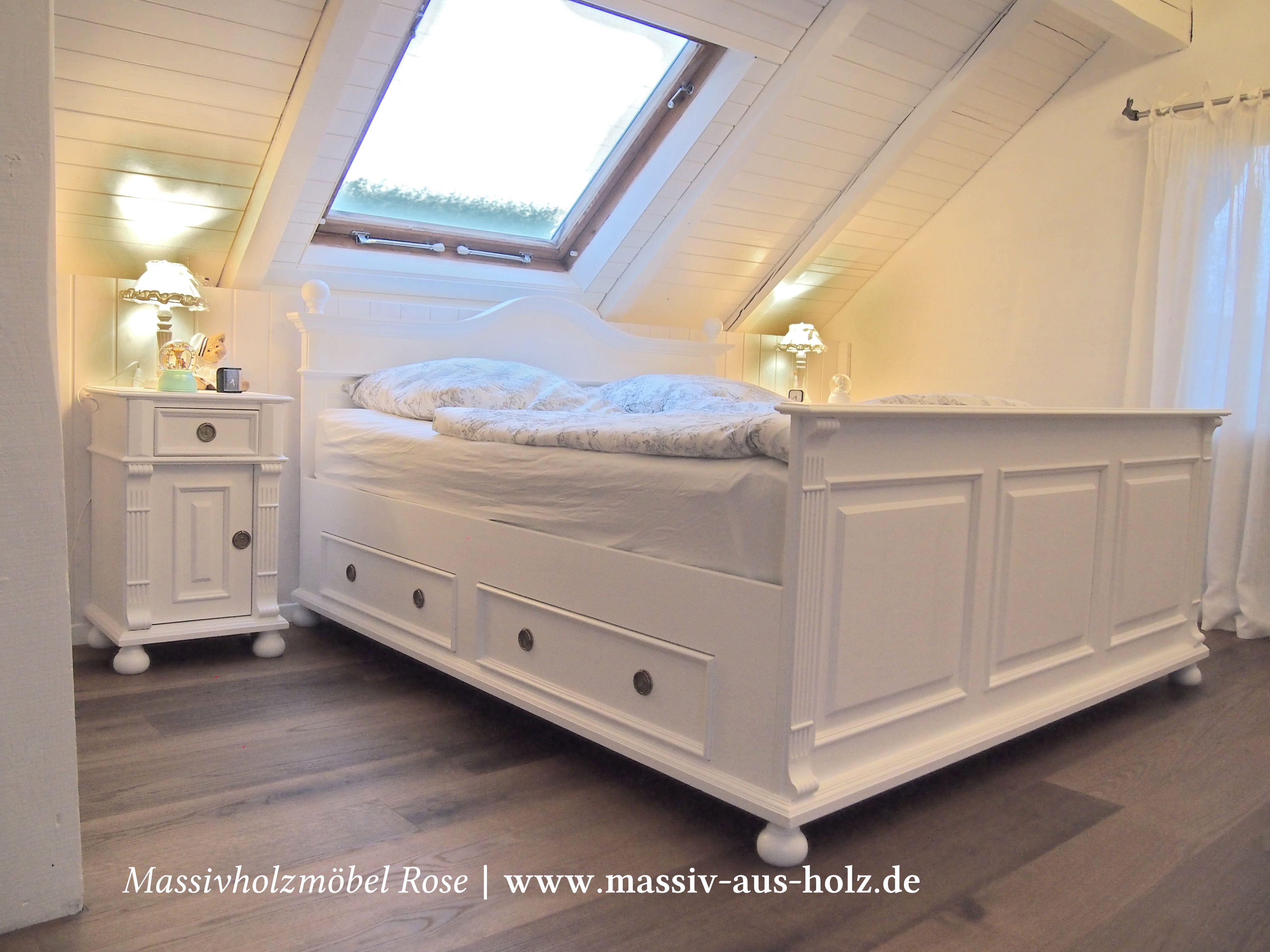 bett 160x200 weis landhaus, echte faszination für landhausbetten in weiß, www.massiv-aus-holz.de, Design ideen