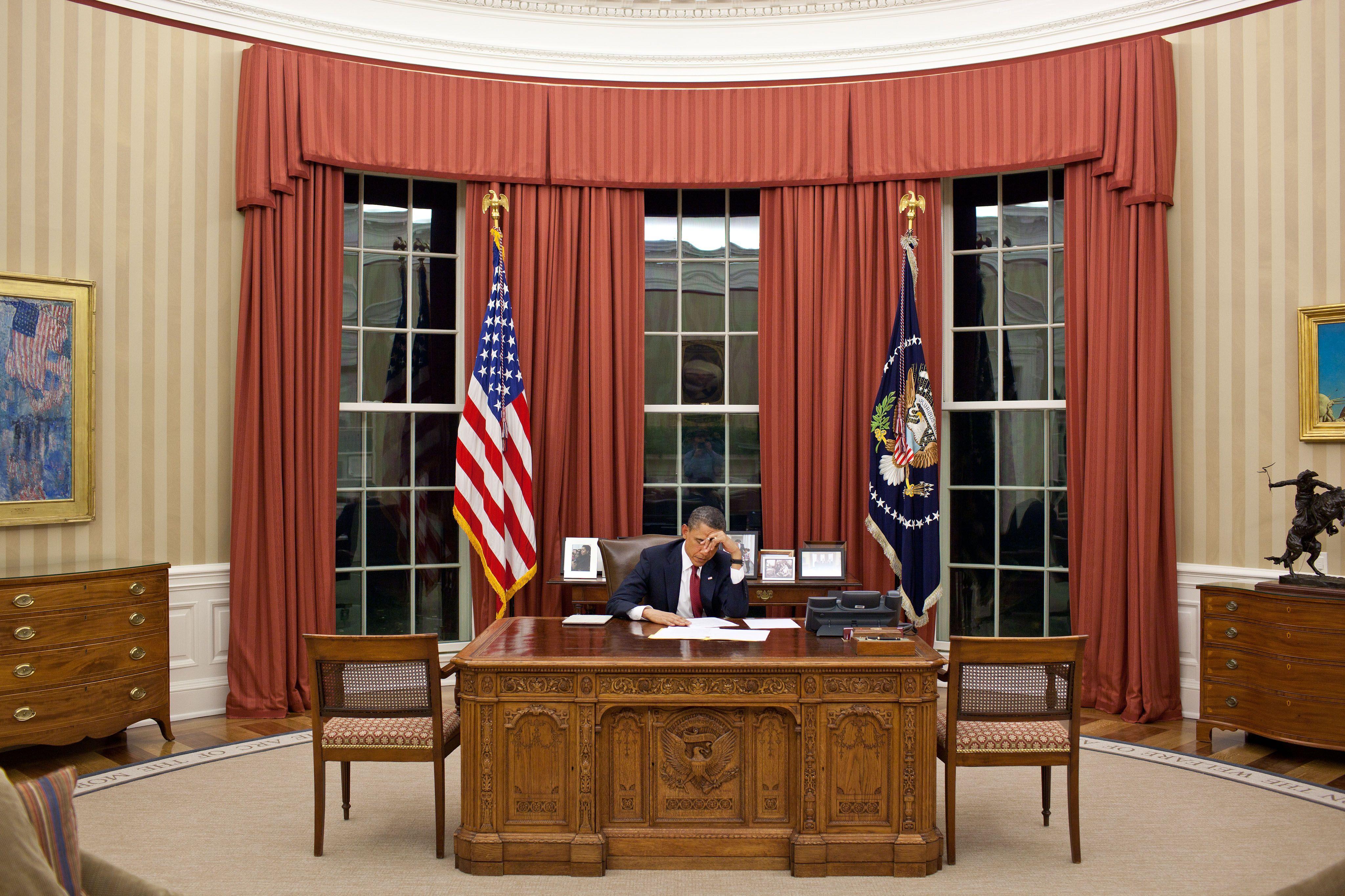Obamas oval office White House Pinterest Osama bin laden