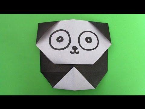 Origami Facile Panda Youtube Origami Origami Facile