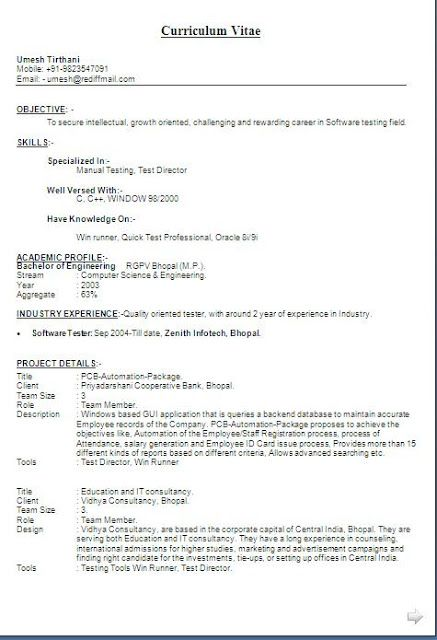 Software Qa Resume Application Resume Free Download Sample Template Example Of .