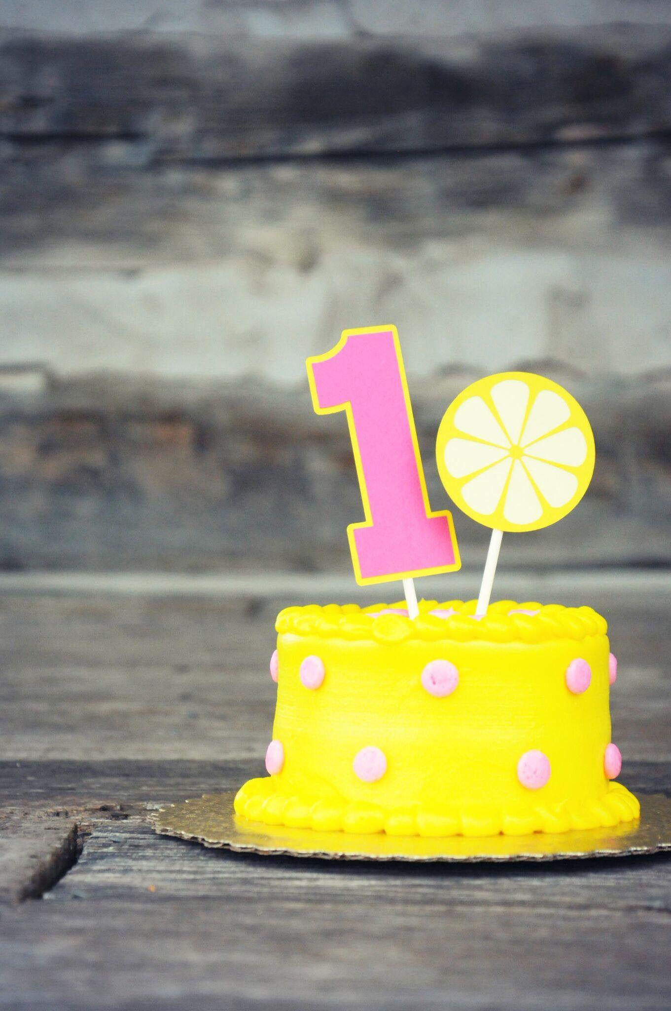 Lemonade Birthday Cake Topper, Lemonade Smash Cake Topper, Lemonade Birthday Party, Pink Lemonade Party, Lemonade First Birthday
