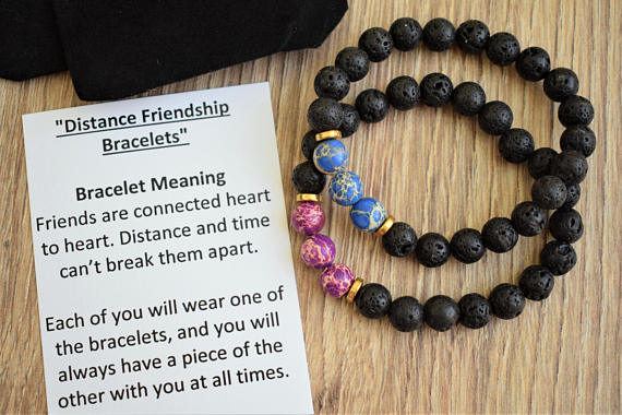 Long Distance Friendship Bracelet Best Friend Gift