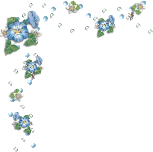 Blue Corner Flower Border Png Flower Border Blue Flowers