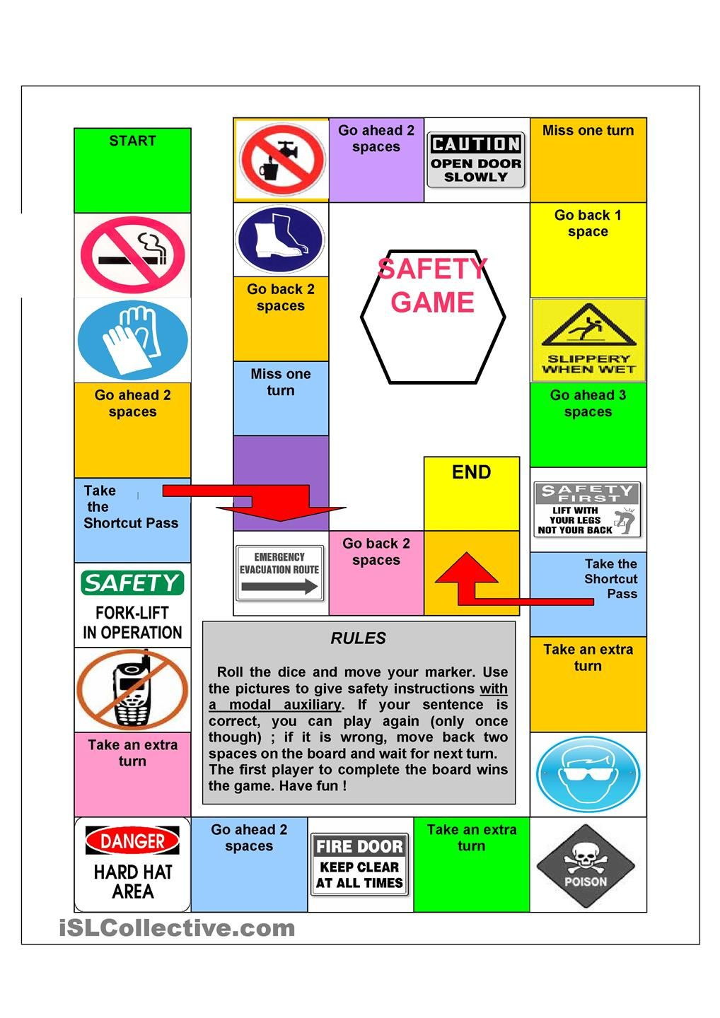 Uncategorized Safety Signs Worksheets safety signs gameboard health pinterest student centered gameboard