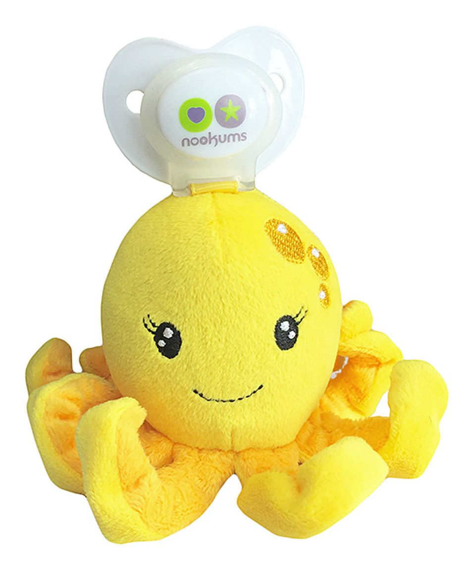 Loving this Paci-Plushies Paci-Plushies Octopus - Universal Pacifier Holder on #zulily! #zulilyfinds