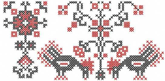 Rooster Cross Stitch Border Free Embroidery Design Cross Stitch