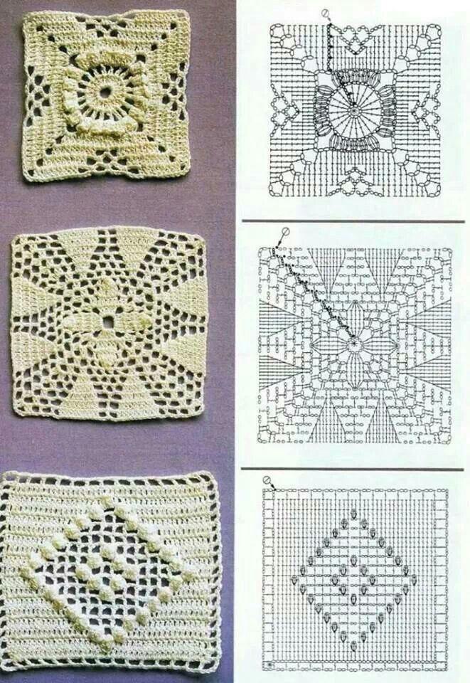 Squares | crochet | Pinterest | Cuadrados, Ganchillo y Patrones