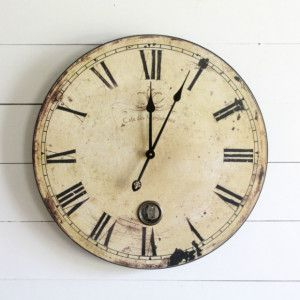 This Vintage Inspired Over Sized Wall Clock Would Make A Beautiful Addition  To Any Rustic Or