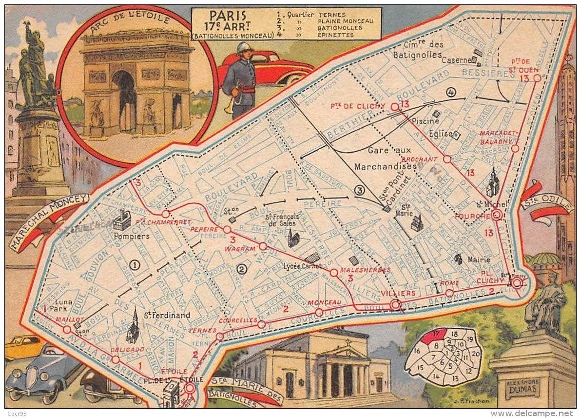 75017 N 47132 Paris Carte De L Arrondissement Blondel Et