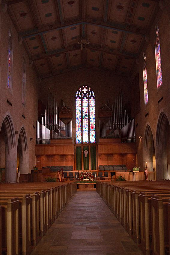 Sanctuary of first cumberland presbyterian church in - Interior designers in chattanooga tn ...