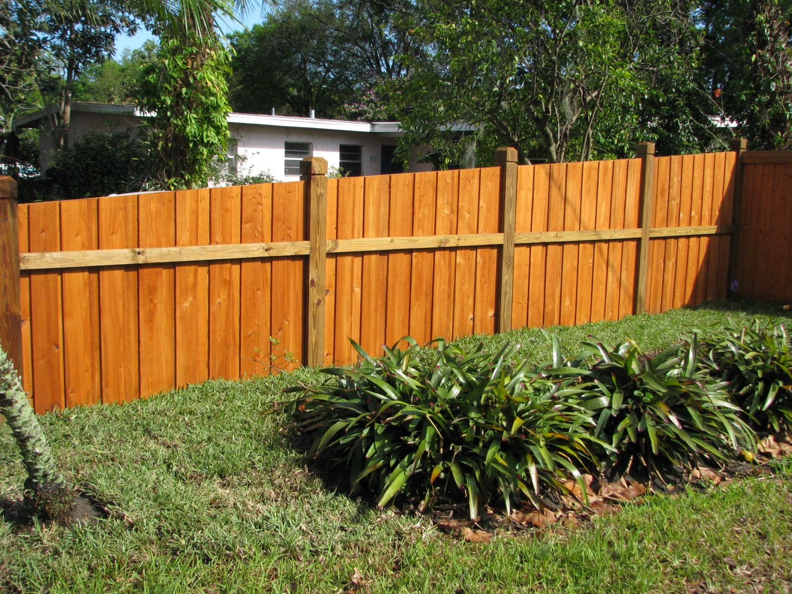 Custom Wood Privacy Fence On A Slope By Mossy Oak Fence