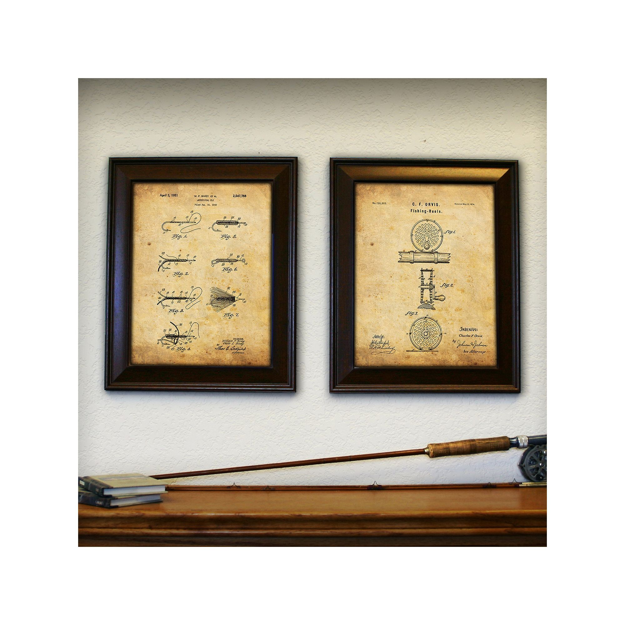 Fly London Personal Prints \'\'Fly Fishing\'\' 2-piece Framed Wall Art ...