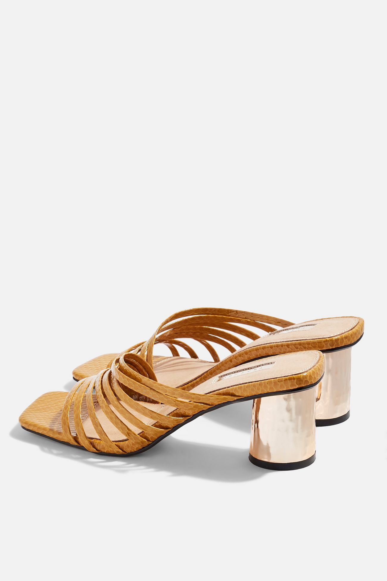 fe0b52f2509 ROSEBEL Mustard Strappy Mules in 2019   SS19   Heeled mules, Shoes ...