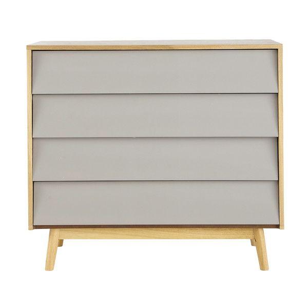 Kommode im Vintage-Stil mit 4 Schublade, grau | wohnen | Kommode ...