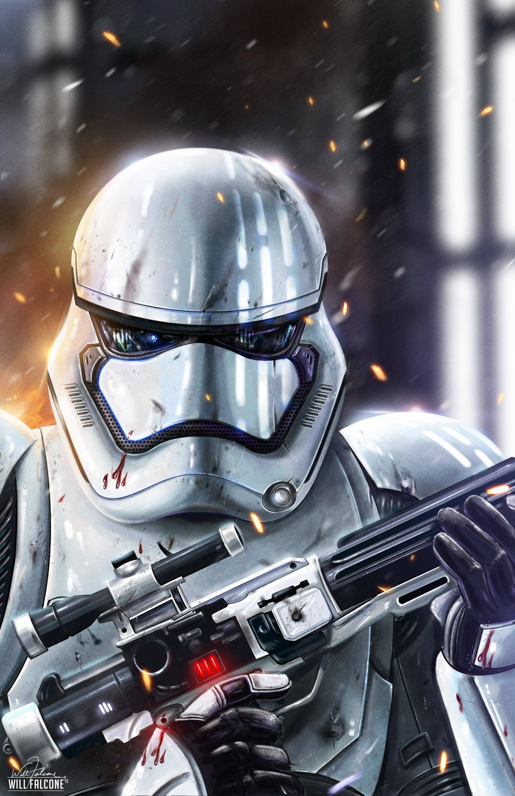 Stormtrooper, Will Falcone on ArtStation at https://www.artstation.com/artwork/stormtrooper-27ae75ef-f59a-4dff-80c0-93d6f4a7368a