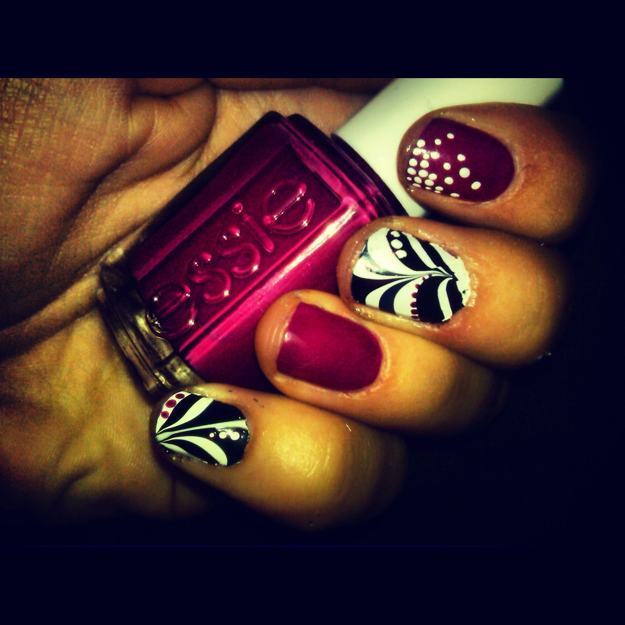marbled my nails