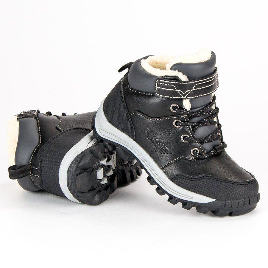 Polbuty I Trzewiki Dzieciece Dla Dzieci Arrigobello Arrigo Bello Czarne Cieple Obuwie Na Zime Hiking Boots Shoes Boots