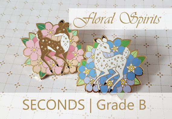 SECONDS - Floral Spirits, Hard Enamel Pins | Products | Pin badges