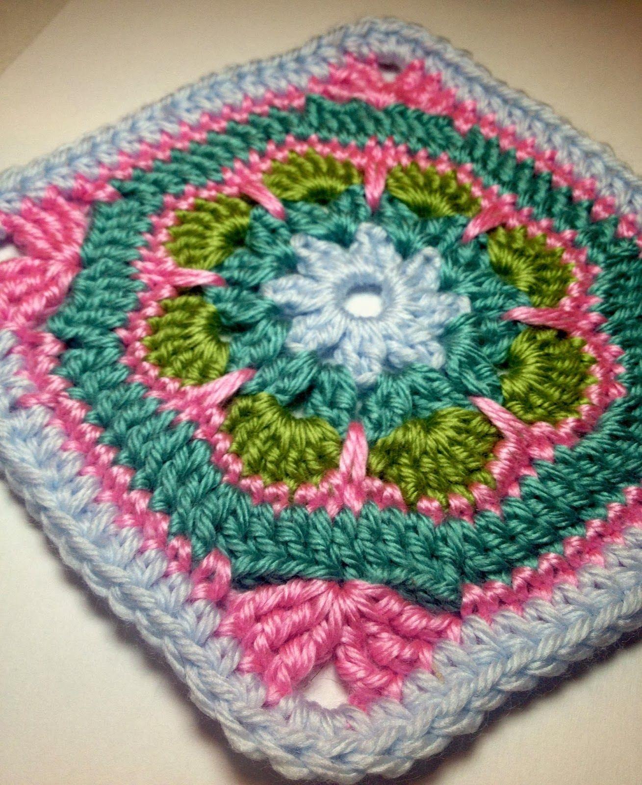 Free Crochet Granny Square Motif Patterns Crafts Pinterest