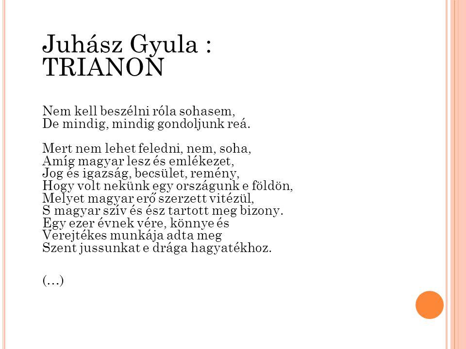trianon versek idézetek Juhász Gyula: Trianon