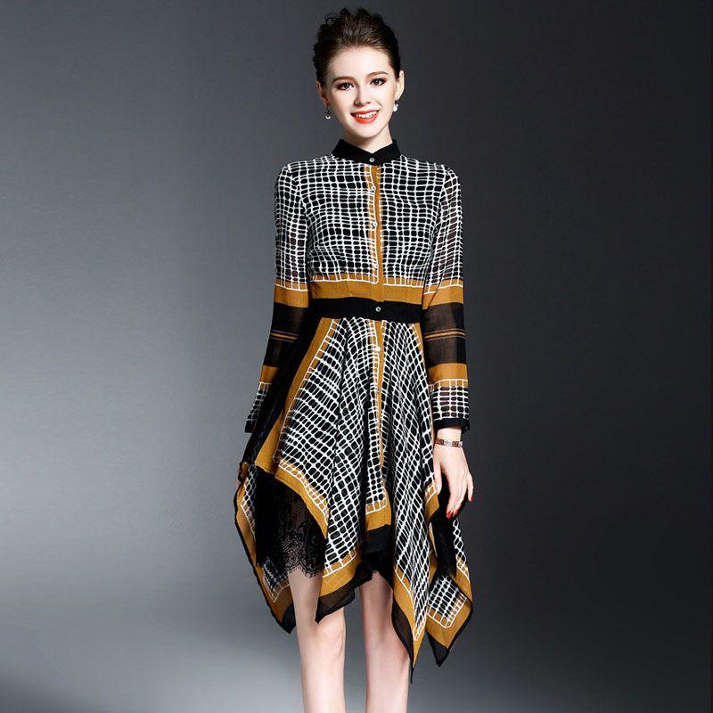 f7c316405 High Quality Brand Fashion Women Runway Dress 2017 Spring Long ...